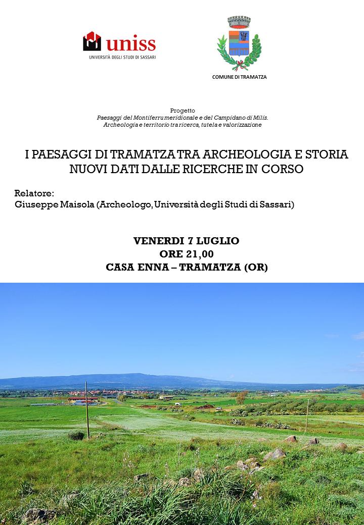I PAESAGGI DI TRAMATZA TRA ARCHEOLOGIA E STORIA NUOVI DATI DALLE RICERCHE IN CORSO